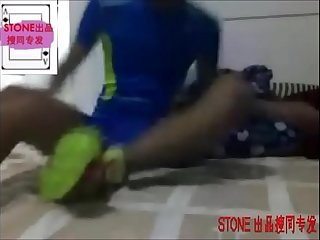 Young Chinese Athlete Jerks Off In Suit