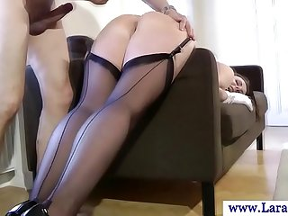 Mature european stockings milf fucked from behind