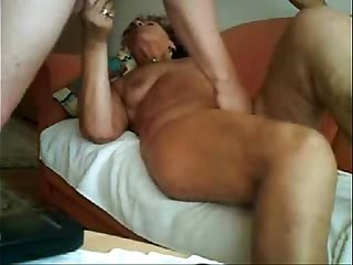 Real amateur. Great orgasm of my slut mature wife