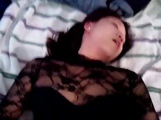 Em cima vestido, sexo com Korean