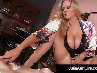 Busty Blonde Milf Julia Ann Pussy Face Fucks Her BoyToy!