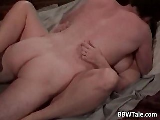 Chubby lady with beautiful boobs banging